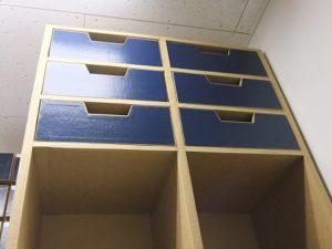 ダンボール物品棚を改造する その1