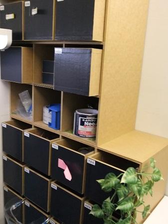 物品棚に書類棚を付ける